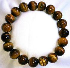 Tigerauge Heilstein Perlen Armband 10mm