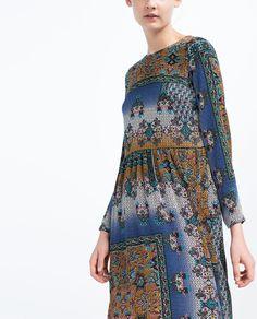 ZARA - WOMAN - PATCHWORK PRINT DRESS