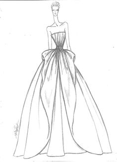 Collection\ Wedding Dresses on Behance Fashion Figure Drawing, Fashion Drawing Dresses, Fashion Illustration Dresses, Drawing Fashion, Fashion Design Sketchbook, Fashion Design Portfolio, Fashion Design Drawings, Gown Sketch Design, Dress Design Drawing