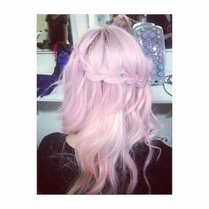 Pink Waterfall Braid: Source: Instagram user christinnaa_xo