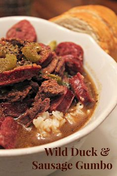 duck recipes Gordon Ramsey is part of Duck Recipes Duck Recipes From Gordon Ramsay Gordon - Wild Duck & Sausage Gumbo Recipe Oysters & Pearls Creole Recipes, Cajun Recipes, Real Food Recipes, Cooking Recipes, Gumbo Recipes, Soup Recipes, Yummy Food, Sausage Gumbo