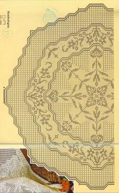 World crochet: Tablecloth 162