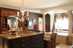 Designer Builders - Aiken SC - bathroom island, custom vanity, marble tub, traditional bathroom