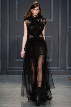 La robe gothique du défilé Vera Wang à New York