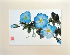 Sumi-e painting is the traditional Chinese or Japanese form of painting using ink and Chinese watercolor. It takes great skill to execute a