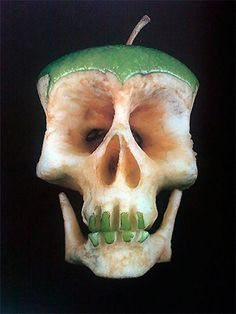Fruit and veggie skulls by Dimitri Tsykalov