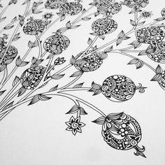 #wip #pomegranates #zenart #zendoodle #zentangle #ZIA #doodle #design #drawing #sketch #scribble #artdeco #artline #art_we_inspire #creative #handdrawnart #inkart #instaart #instaartist #instagood #patterns