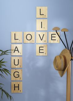 Scrabble L-O-V-E from the Craft Warehouse Blog