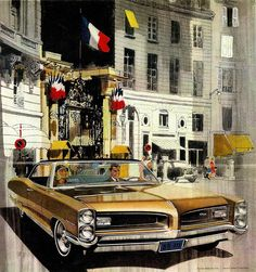 Now... something we must get back to... the amazing, outstanding, unique, superb Pontiac ads by AF and VK. Have already forgotten their names, but you know them. (Charlie is referring to the illustration team of Art Fitzpatrick and Van Kaufman ~ L)