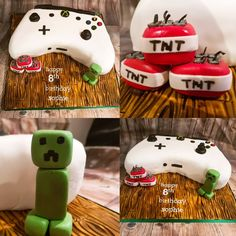 Xbox One controller / Minecraft cake by Jeanette Becker (The German Cakesmith) Happy 8th Birthday, Birthday Parties, Birthday Cakes, Birthday Ideas, Chocolate Biscuit Cake, Xbox One Controller, Minecraft Cake, Birthdays, Snoopy