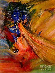 Prophetic Painting - Prophetic Roar by Deborah Nell