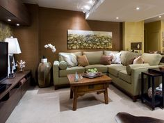 Relaxing Basement Hangout - 10 Chic Basements by Candice Olson on HGTV