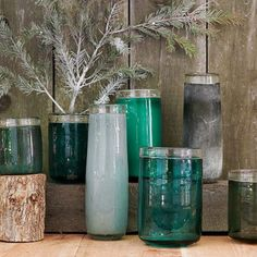 Teal has been, and will always be my favorite color.  Love these jars!