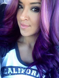 Purple hair...hmmmmm...what would my boss say about this hair color? ☀️