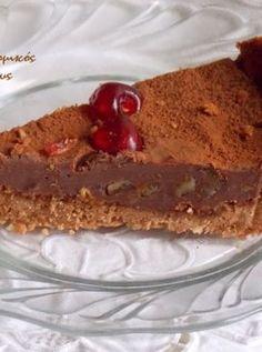 Τάρτα σοκολάτας με ζύμη αμυγδάλου - cretangastronomy.gr Yams, Sweet Recipes, Tiramisu, Pudding, Pie, Ethnic Recipes, Desserts, Food, Pies