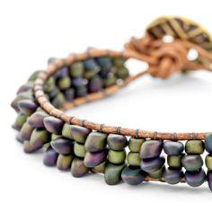 Amazonia Bracelet | Fusion Beads Inspiration Gallery #DriedHerb #FusionBeadsColorOfTheMonth