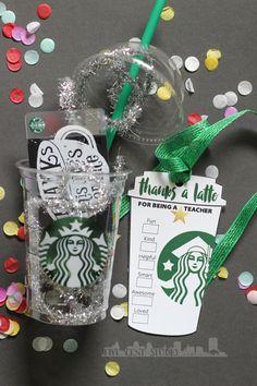Starbucks Inspired Teacher Thanks a Latte Cup by FiveCentStudio