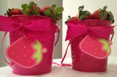 Strawberry Shortcake Berry Sweet Favor Tags Set of 12. $10.00, via Etsy.