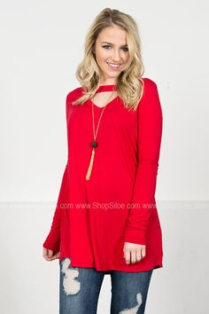 Fire Red Bamboo Tunic