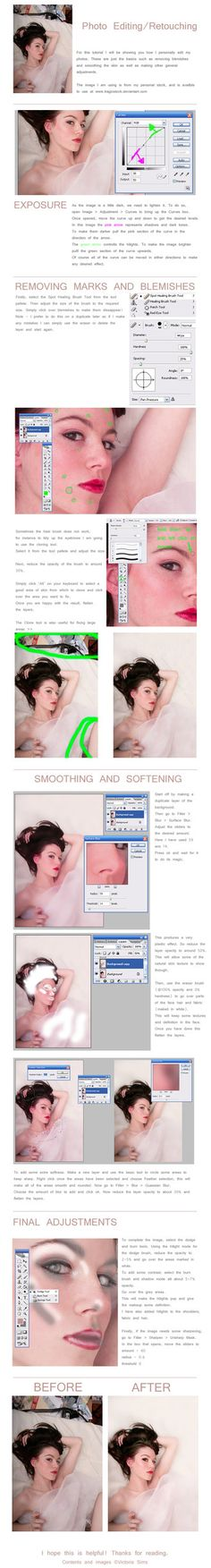 When I have some time, I'll improve my photoshop skills from average to pro ;D Photo Editing / Retouching Basic editing tutorial using adobe Photoshop Adobe Photoshop, Lightroom, Photoshop Elements, Photoshop Retouching, Photo Retouching, Photoshop Photos, Basic Photoshop Tutorials, Photoshop Photography, Photography Tutorials