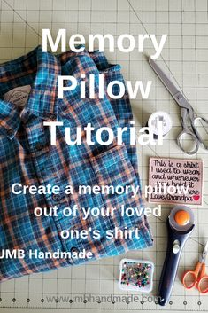 Easy DIY Memory Pillow Tutorial 2019 Simple step by step instructions on how to make a memory pillow out of your loved one's shirt. The post Easy DIY Memory Pillow Tutorial 2019 appeared first on Quilt Decor. Easy Sewing Projects, Sewing Projects For Beginners, Sewing Hacks, Sewing Tutorials, Sewing Tips, Tutorial Sewing, Diy Projects, Memory Pillow From Shirt, Memory Pillows