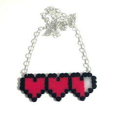 8bit Heart Meter Necklace