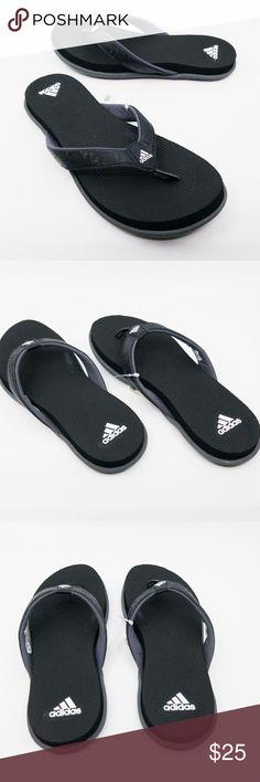 bb6cca8811f4 Adidas Womens Comfort B Flip Flops Black Sandals Adidas Womens Comfort B  Flip Flop Black Grey