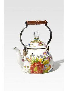 floral tea pot