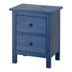 HEMNES 2-drawer chest - blue - IKEA