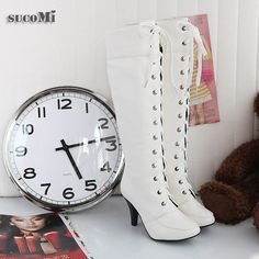 White boots, but I would put black satin ribbon to lace up