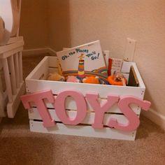 DIY toy box Chocolateandhydrangeas.blogspot.com