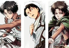 His face looks a tad bit off in all of these.... | Levi official arts | SNK