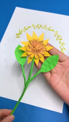 Paper Folding Crafts, Cool Paper Crafts, Paper Crafts Origami, Creative Crafts, Oragami, Origami Stars, Origami Easy, Pop Up Flower Cards, Origami Tutorial