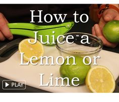 Learn how to juice a lemon or lime. Find out more about lemons, limes, and other citrus fruits at  www.liveeatplay.colostate.edu/eat