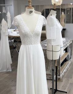 CHARLY A. - Robe charlotte  - Marie Laporte Marie, Charlotte, Formal Dresses, Fashion, Modern Wedding Dresses, Dress Ideas, Moda, Formal Gowns, La Mode