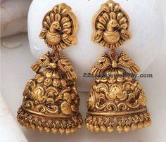 Temple Jewelry Large Jhumkas