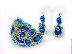 """Pulsera """"CRISTAL AZUL"""" - azul, pulsera pulsera de piedra con piedras Pulsera con aguamarina"""