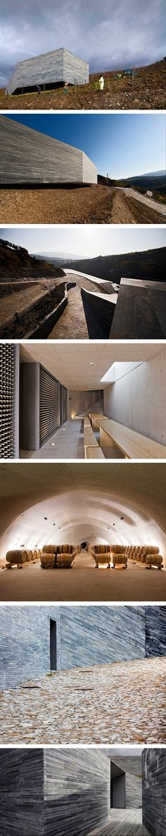Superb use of materials ans volumes in Bodega Quinta Do Vallado, Portugal