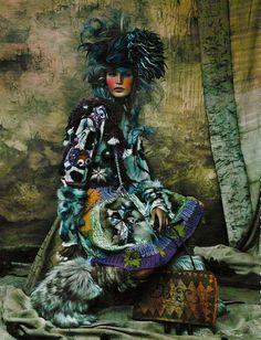 Vogue Germany December 2002 ENTFESSELT  Photographer: Ruven Afanador   Hair: John Sahag   Make up: Ayako
