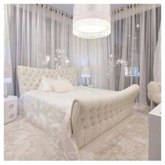 All White Bedroom... very Yang.