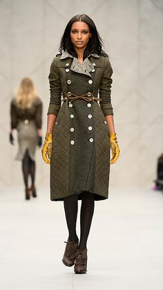Burberry A/W12 Blanket Quilt Trench Coat----burberry always makes the most attractive coats