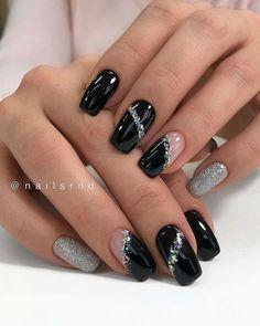 Winter Nail Designs, Winter Nail Art, Colorful Nail Designs, Winter Nails, Heart Nail Designs, Square Nail Designs, Nail Art Designs, Blog Designs, Nails Design