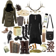 """Brooding over coffee and cigarettes, deep in the darkest forest."" by morbid-octobur on Polyvore"