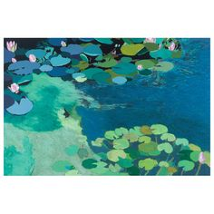 I pinned this Water Lilies Wall Art IV from the Walls of Whimsy event at Joss and Main!