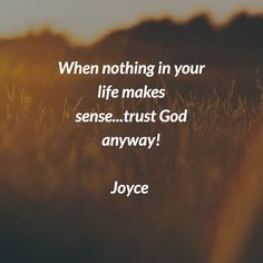Christian Messages, Christian Quotes, Joyce Meyer Quotes, Joyce Meyer Ministries, God Loves Me, Godly Woman, Religious Quotes, Trust God, Word Of God