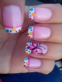 Uñas Love Nails, Pretty Nails, My Nails, Nails For Kids, Pretty Nail Designs, Nail Polish Designs, Nails Design, Nail Stickers, Perfect Nails