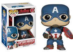 Funko Pop Marvel: Avengers 2 - Captain America Vinyl Figure