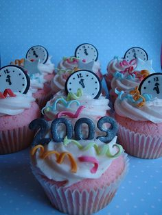 kids cupcakes for new years