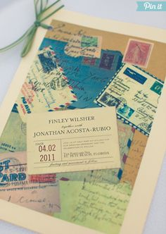 What unique invitations! via Style Me Pretty