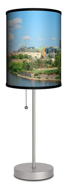 """Ottawa Cityscape in the Afternoon 20"""" H Table Lamp"""